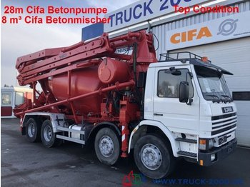 Betonpumpe Scania 113G360 28m CiFa Pumpe 8m³ Mischer Top Condition