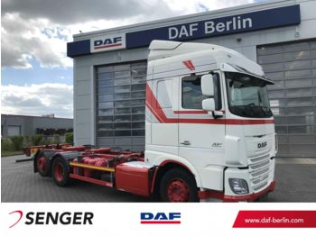 Containerbil/ veksellad lastbil DAF XF 460 FAR Space Cab, Langendorf BDF Wechselsyst